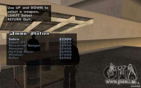 Cars shop in San-Fierro beta für GTA San Andreas dritten Screenshot