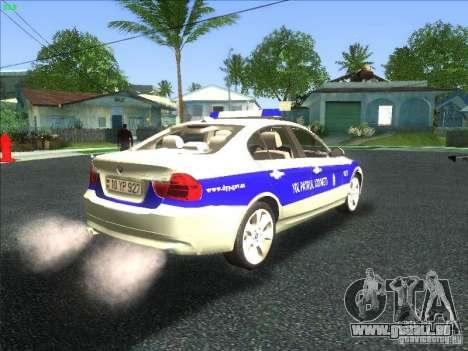 BMW 330i YPX für GTA San Andreas Rückansicht