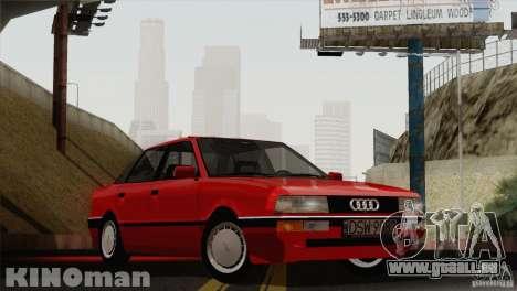 Audi 90 Quattro für GTA San Andreas zurück linke Ansicht