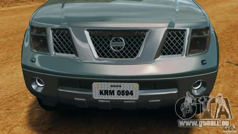 Nissan Frontier DUB v2.0 pour GTA 4 vue de dessus