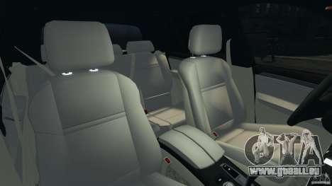 BMW X5 xDrive30i pour GTA 4 est une vue de l'intérieur