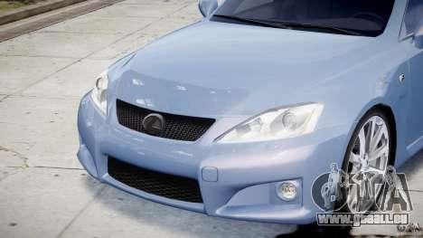 Lexus IS F für GTA 4 Innen
