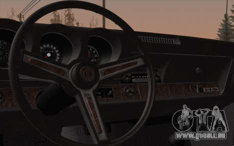 Oldsmobile Hurst/Olds 455 Holiday Coupe 1969 pour GTA San Andreas vue intérieure