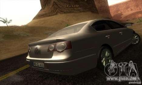 Volkswagen Passat pour GTA San Andreas laissé vue