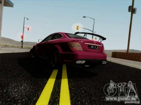 Mercedes Benz C63 AMG Coupe Presiden Indonesia für GTA San Andreas linke Ansicht