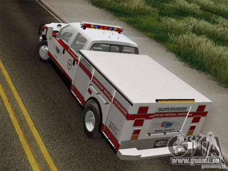 Ford F-350 AMR Supervisor pour GTA San Andreas vue arrière
