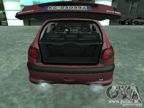 Peugeot 206 HDi 2003 pour GTA San Andreas vue arrière