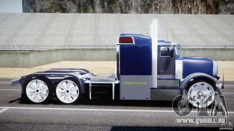 Peterbilt Truck Custom für GTA 4 linke Ansicht