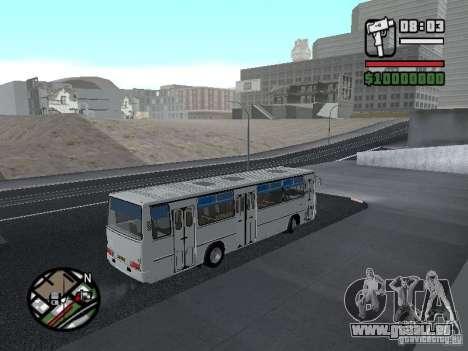 Ikarus 266 Stadt für GTA San Andreas Innenansicht