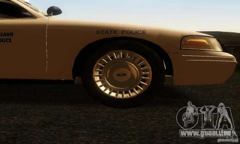 Ford Crown Victoria Rhode Island Police pour GTA San Andreas vue de droite
