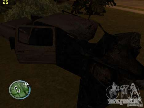 Defekte Autos auf Grove Street für GTA San Andreas her Screenshot