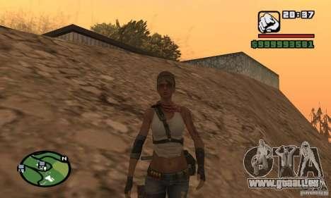 Das neue militärische Mädchen für GTA San Andreas zweiten Screenshot