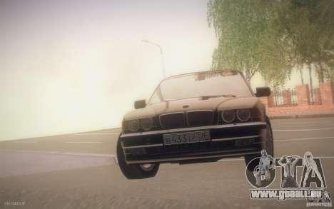 BMW 750i E38 2001 pour GTA San Andreas vue intérieure