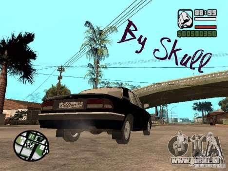 GAZ 31105 pour GTA San Andreas sur la vue arrière gauche