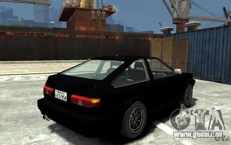 Toyota Sprinter Trueno AE86 pour GTA 4 est un droit
