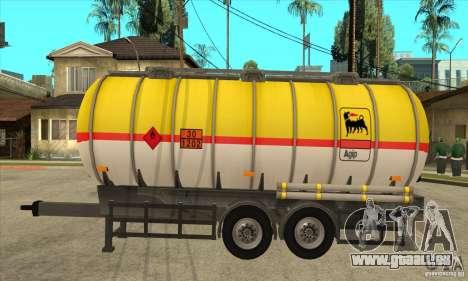 Trailer Tunk pour GTA San Andreas laissé vue