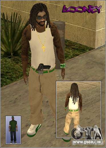 Skin Pack Getto für GTA San Andreas neunten Screenshot