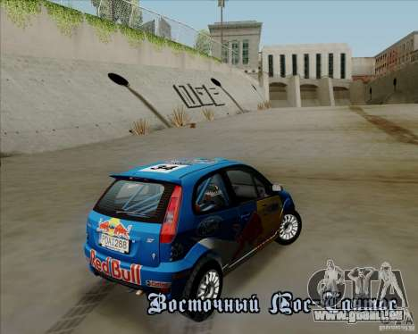 Ford Fiesta ST Rally pour GTA San Andreas vue intérieure
