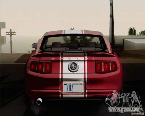 Ford Shelby GT500 Super Snake 2011 pour GTA San Andreas vue de droite