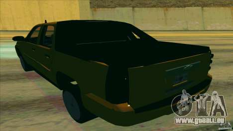 Chevrolet Avalanche 2011 pour GTA San Andreas sur la vue arrière gauche