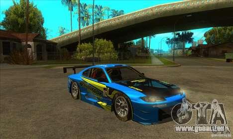 Nissan Silvia S15 - GT pour GTA San Andreas vue arrière