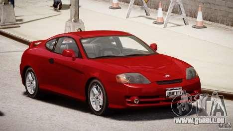 Hyundai Tiburon tunable für GTA 4 Rückansicht