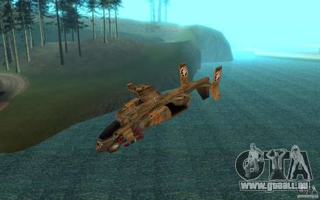 Orca Air Command and Conquer 3 für GTA San Andreas zurück linke Ansicht