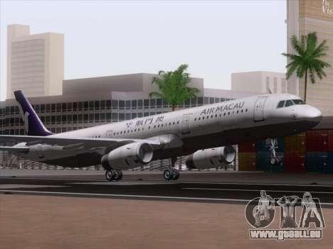 Airbus A321 Air Macau für GTA San Andreas linke Ansicht