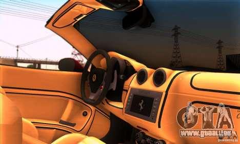 Ferrari California V3 pour GTA San Andreas vue de dessus