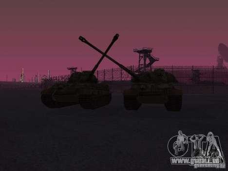 Pzkpfw VII Tiger II pour GTA San Andreas vue arrière