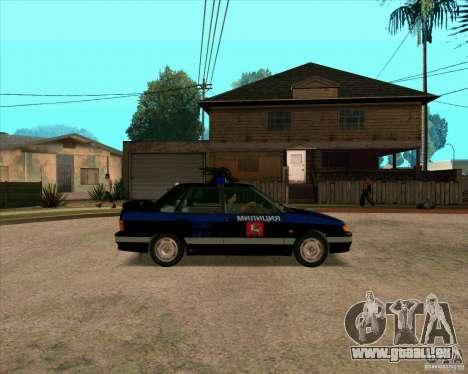 VAZ 2115 DPS pour GTA San Andreas sur la vue arrière gauche