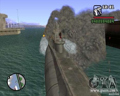 U99 German Submarine für GTA San Andreas sechsten Screenshot