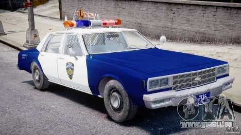 Chevrolet Impala Police 1983 pour GTA 4 est une vue de l'intérieur