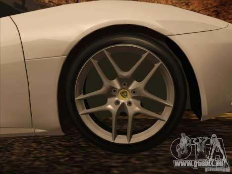 Lotus Evora für GTA San Andreas Innenansicht