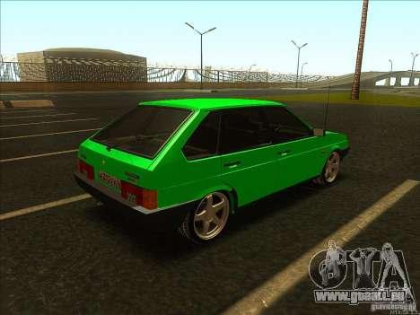 VAZ 2109 hiver pour GTA San Andreas sur la vue arrière gauche