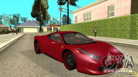 Ferrari 458 Italia Hamann für GTA San Andreas Rückansicht