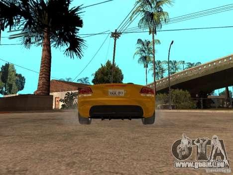Dodge Viper SRT10 Impostor Tuning pour GTA San Andreas sur la vue arrière gauche