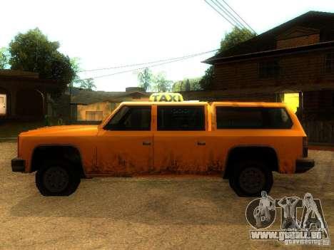Taxi Rancher pour GTA San Andreas laissé vue