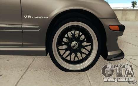 Mercedes-Benz C32 AMG Tuning pour GTA San Andreas salon