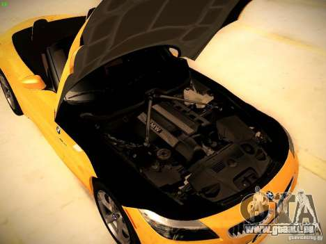 BMW Z4 sDrive28i 2012 pour GTA San Andreas vue intérieure