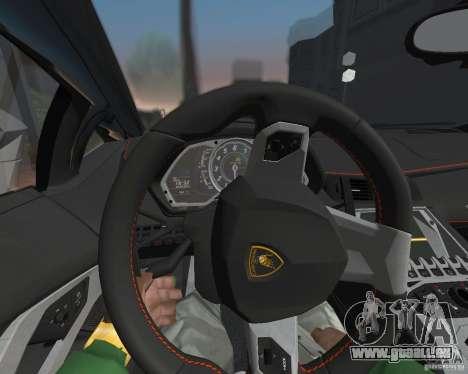 Lamborghini Aventador LP700-4 Police pour GTA San Andreas laissé vue