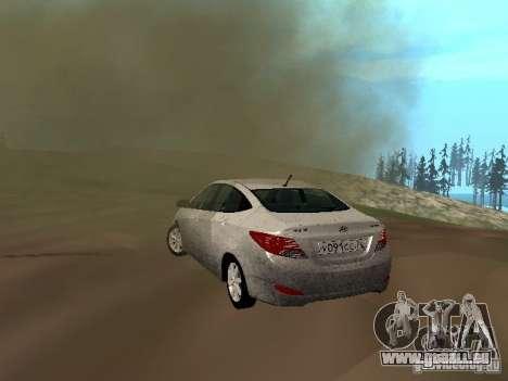 Hyundai Solaris pour GTA San Andreas vue de droite