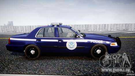 Ford Crown Victoria Homeland Security [ELS] für GTA 4 Innenansicht