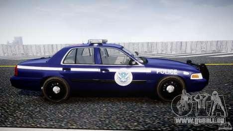 Ford Crown Victoria Homeland Security [ELS] pour GTA 4 est une vue de l'intérieur