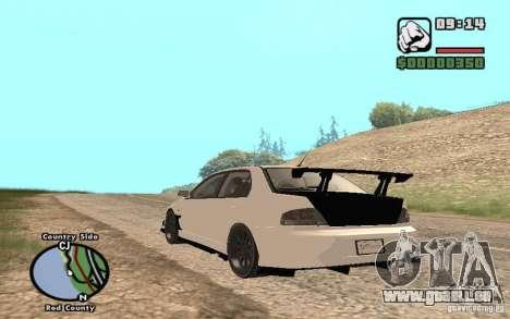 Mitsubishi Lancer Evolution 8 Carbon pour GTA San Andreas vue de droite