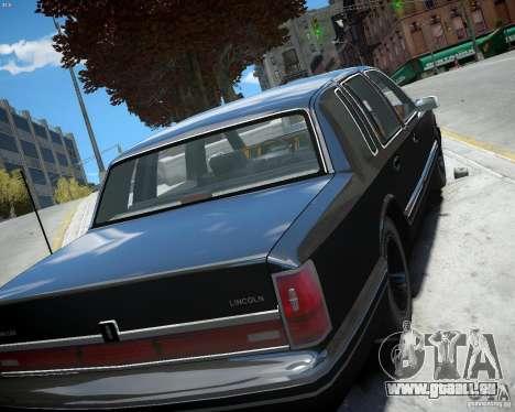 Lincoln Towncar 1991 pour GTA 4 Vue arrière