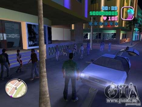 Delorean DMC-12 pour une vue GTA Vice City de la gauche