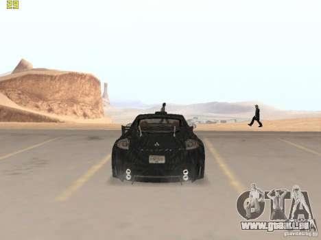 Mitsubishi Eclipse GT NFS-MW pour GTA San Andreas sur la vue arrière gauche