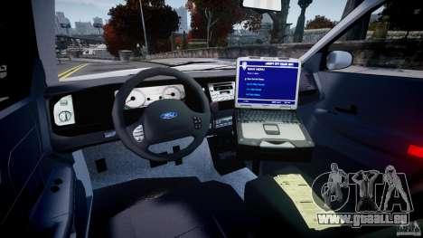 Ford Crown Victoria Croatian Police Unit pour GTA 4 Vue arrière