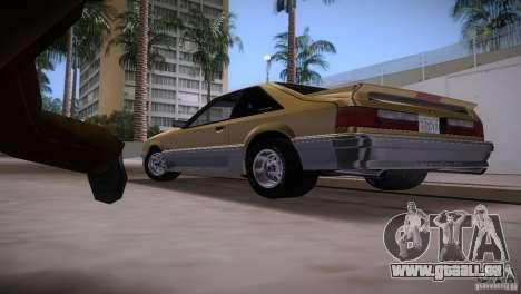 Ford Mustang GT 1993 pour GTA Vice City vue latérale